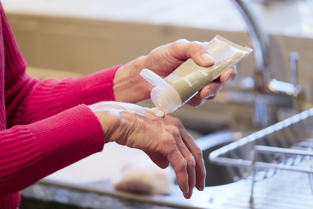 dry skin of hands